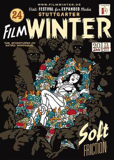 Poster Filmwinter Astro Girls Adventures  by Apfel Zet