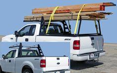 Heavy Duty Truck Racks (www.heavydutytruckracks.com)           Images of Buddy Construction Grade Lumber Rack configured for hauling or just traveling
