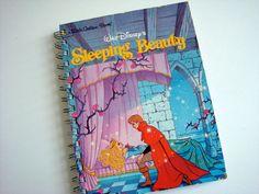 Sleeping Beuty Notebook / Little Golden Book by ComfortablyLovely