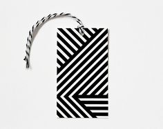 Black and White Geometric Tag
