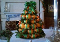 Orange Tree Centerpieces in Biltmore House Breakfast Room Southern Christmas, Christmas Brunch, Christmas Tablescapes, Christmas Holidays, Christmas Crafts, Christmas Decorations, Xmas, Christmas Trimmings, Christmas Ideas