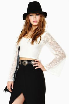 Stevie Lace Crop Top