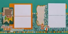 Premade Scrapbook Pages - Hooray For Summer