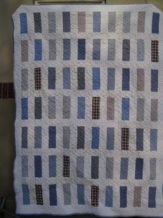 quilt using mens shirts