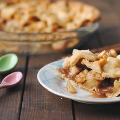 Maple apple pie with a spiced pastry.