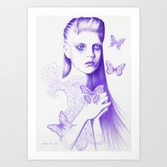 Love Is Like A Butterfly Art Print by Andrea Hrnjak - $18.00   http://society6.com/product/love-is-like-a-butterfly-b9r_print?curator=listenleemarie