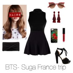 """BTS-Suga France trip"" by zucca0 on Polyvore featuring Raye, Reiss, Oscar de la Renta, Casetify and Miss Selfridge"
