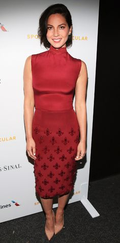 Celebrities in Marsala: Pantone's 2015 Color of the Year - Olivia Munn from #InStyle