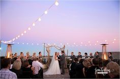 rooftop ceremony / The White Room - St Augustine, Fl. the sunset is my color inspiration!