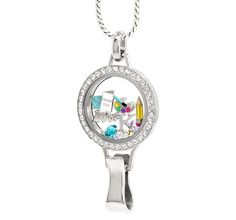 """Besides you, she's your child's No. 1 advocate so tell her you appreciate her with a Large Lanyard Living Locket with Crystals. This preselected look features Charms to capture her story and say """"thank you."""" Add the Charms, Dangles and In{script}ions to further customize this look and capture her story.."""