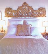 our home on the cover of romantic homes magazine! - Velvet & Linen Pretty bed and arch piece