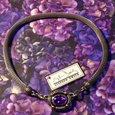 """Magnificent Stephen Dweck 18k.925 Amethyst Collar For you, My Gentle Souls, The Jewelry lovers out there, This piece is my """"Best in Show"""", It is hands down, the most amazing piece ( matching Earrings are on the way) It's a little over 18"""" in total length, The Chain is Solid Sterling, 8mm in Diameter, & Round! The Center from Endcap to Endcap is 3.75""""!  The Amethyst is a Mixed Fancy Oval 12x 18mm, Bezel Set, 4- 5mm Balls are Solid Y18k Gold, , marked 18k Stephen Dweck, 925! NWT Stephen Dweck…"""