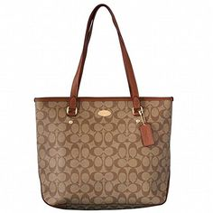 Coach Signature Zip Top Tote  F34603  http://stylexotic.com/coach-signature-zip-top-tote-f34603/