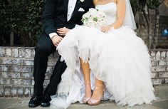 All you need is love❤️(and this dress and those shoes) #WeddingWednesday #LaubergeDelMarWeddings @sisterleephotography @alexandrakanne