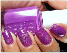 Essie DJ Play That Song & Cheeky Tropical Holiday stamping plate