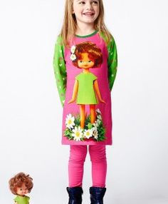 bd20f1e0fda12 mim-pi 238 Pink dress with doll print This special