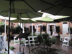 Ceremony circle with umbrellas