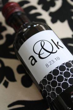 Druckbare Split Wein Flasche Label (Wählen Sie aus 40 Designs)