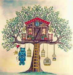 Jardim Secreto/Casa na Arvore/Johanna Basford