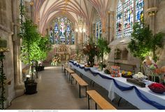 Chichester Cathedral at Flower Festival Time - this had the Jubilee street party as the theme. The whole Cathedral is transformed with thousands of flowers - it is well worth a visit if you are here - allow 4 hours+! http://www.chichestercathedral.org.uk/