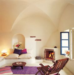 Greek Island house: perfect resting room! Like, a room for your guests.