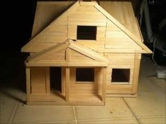 Popsicle Stick House 1