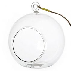 """3"""" Hanging Glass Solar Candle Holder"""
