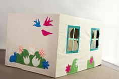 Such a fun present for the little ones in your life.   Cubby Time Play huts are custom made to cover your size table and create a play area underneath.  Fun and colourful, these are sure to entertain the masses. With little peep-holes, flap-doors, and coloured applique, these are a one-way ticket to your child's dreamland.   Once your order has been placed you will be emailed to confirm your table measurements (height, width and length required).