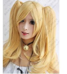 3929efe610a New Fashion Long milk blonde cosplay party wig + 2 clip on Ponytails