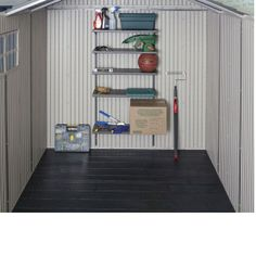 This Lifetime Storage shed has a large interior designed to meet a broad range of storage needs!