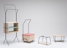 Italian designer Simone Simonelli presented three little mobile storage units in Milan last month.