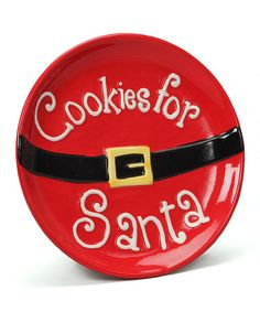 'Cookies for Santa' Plate by Dennis East International on #zulily