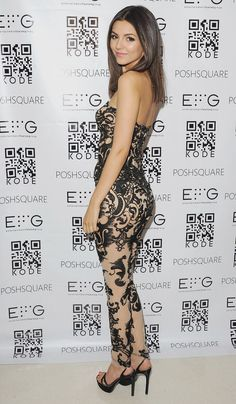 Hot, hot, hot! Victoria Justice struck an over-the-shoulder pose while showing off her style in 2015.