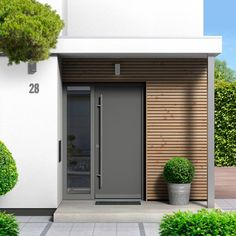 10 Modern Front Doors We Love Right Modern Front Doors We Love Right best modern farmhouse front door entrance design best modern farm house front door entrance design ideas farm house Modern Entrance Door, Modern Exterior Doors, Modern Front Door, Front Door Entrance, Front Door Design, House Entrance, Modern Door Design, Entrance Lighting, Office Entrance