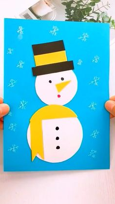 Christmas Cards Handmade Kids, Christmas Crafts For Toddlers, Christmas Paper Crafts, Winter Crafts For Kids, Paper Crafts For Kids, Preschool Crafts, Kids Christmas, Holiday Crafts, Diy Crafts For Gifts