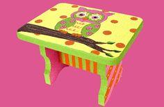 DecoArt® Spring Owl Stool #paint #craft