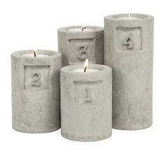 Cement DIY via Favorite Things - http://www.favoritsaker.se/