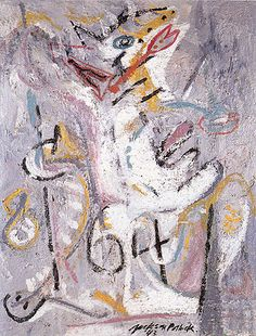 Wounded Animal 1943 By Jackson Pollock - Oil Paintings & Art Reproductions - Reproduction Gallery Pollock Paintings, Picasso Paintings, Wyoming, Jackson Pollock Art, Lee Krasner, Paul Jackson, Guernica, Action Painting, Abstract Art