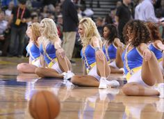 With 11 home games in March, the Warrior Girls are hard at work perfecting their routines and working on new ones to keep Warriors Ground on their toes. Nba Cheerleaders, Cheerleading, Cheerleader Pantyhose, Warrior Girl, Nba Champions, Golden State Warriors, Pole Dancing, Sport Girl, Fitness Models