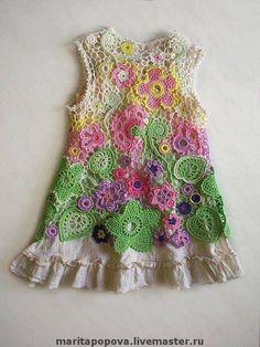 Tığ İşi Örgü Kız Elbise Modelleri - El Sanatları ve Hobi Sitesi - El Sanatları ve Hobi Sitesi