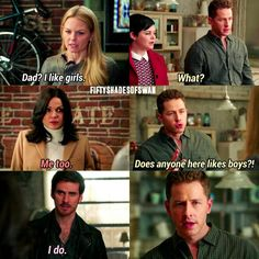 LOL I don't ship swanqueen but. And so do ship captaincharming. To an extent... you just can't ignore the bromance. Although captainswan is my main OPT
