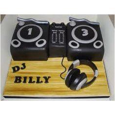 DJ decks cake with headphones 3rd Birthday Parties, 10th Birthday, Birthday Cakes, Birthday Ideas, Dj Cake, Cupcake Cakes, Cupcakes, Celebration Cakes, Birthday Celebration