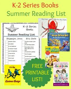 K-2 Series Books Summer Reading List & FREE PRINTABLE from Starts At Eight