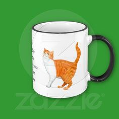 'Cats are kindly masters as long as you remember your place' Ringer Mug