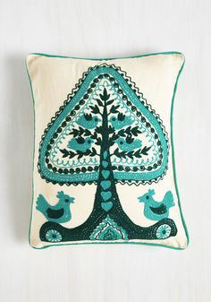 Tree of Flight Pillow. Bring harmony to your abode with this eco-friendly pillow from Karma Living. #multi #wedding #modcloth