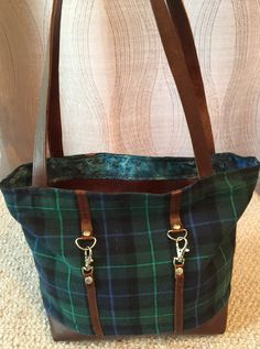 Brown Italian leather handbag, navy and green plaid handbag, leather handbag, leather purse, black handbag, black purse, black shoulder bag by 524HandbagsShop on Etsy Brown Leather Handbags, Black Handbags, Leather Purses, Brown Purses, Black Purses, Plaid Purse, Leather Shoulder Bag, Shoulder Bags, Navy And Green
