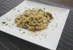 Pasta ala risotto with mushrooms