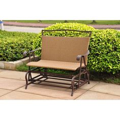 @Overstock - Make your outdoor area more inviting with this resin wicker steel frame double glider chair. This stylish glider is durable and comfortable. This piece is UV and water resistant and features a brown steel frame with light pecan wicker.http://www.overstock.com/Home-Garden/Valencia-Resin-Wicker-Steel-Frame-Double-Glider-Chair/5206123/product.html?CID=214117 $269.99