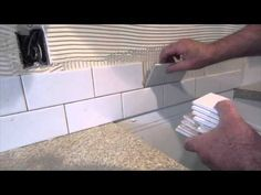 How to install a simple subway tile kitchen backsplash - YouTube