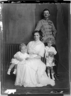 Emperor Karl I of Austria his wife Zita and their eldest two children: Archduchess Adelaide and Crown Prince Otto of Austria. European History, British History, Parma, Die Habsburger, Austrian Empire, Royal Families Of Europe, Royal Monarchy, Adele, Royal Blood